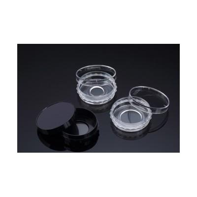 Confocal Dish, Adhesion Type, Clear, PS/FLux, 35x10mm, 20Ø , Confocal Region 3.14cm3, external grip, TC treated, Sterile, SPL,