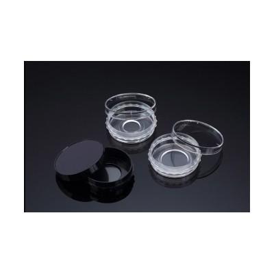 Confocal Dish, Adhesion Type, Black, PS/FLux, 35x10mm, 20Ø , Confocal Region 3.14cm3, external grip, TC treated, Sterile, SPL,