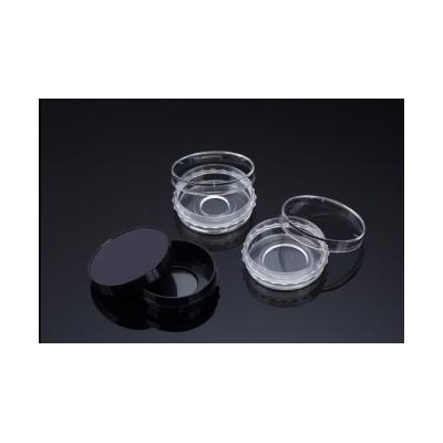 Confocal Dish, Adhesion Type, Black, PS/Glass, 35x10mm, 13Ø , Confocal Region 1.33cm3, external grip, Sterile, 5 szt. w op., 10