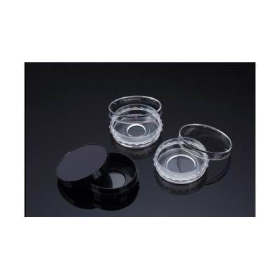 Confocal Dish, Adhesion Type, Black, PS/Glass, 35x10mm, 20Ø , Confocal Region 3.14cm3, external grip, Sterile, SPL, 5 szt. w op