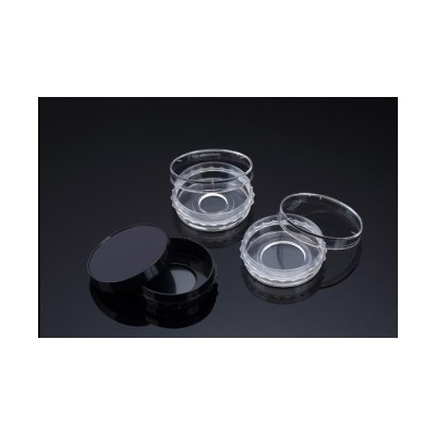 Confocal Dish, Adhesion Type, Clear, PS/Glass, 35x10mm, 13Ø , Confocal Region 1.33cm3, external grip, TC treated, Sterile, SPL,