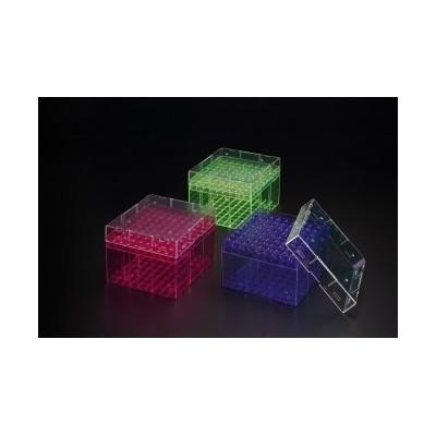 5ml Cryobox, PC, 3 Colors, 9x9 (81Holes) - Pudełko na krioprobówki, 3 kolory, 81 miejsc
