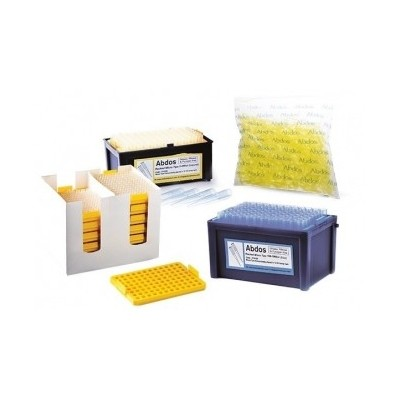 RACKED Micro tips, 2-200 μl (yellow), (bevelled gradated), 96szt. x 10 pud.