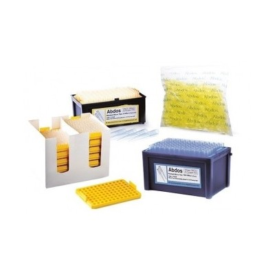 RACKED Micro tips, 2-200 μl (natural), Sterile (bevelled gradated), 96szt. x 10pud.