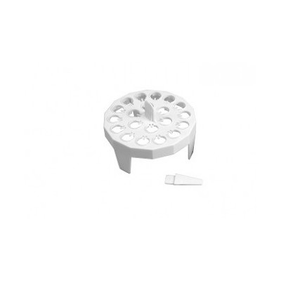 FLOATING RACK FOR MICRO CENTRIFUGE TUBE, PP (1.5 & 2 ML), 20 laces, White, 4 szt. w op.