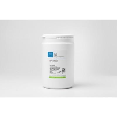 Podłoże RPMI 1640 w proszku, z L-glutaminą i czerwienią fenolową, bez wodorowęglanu sodu, bez pirogronianu sodu.