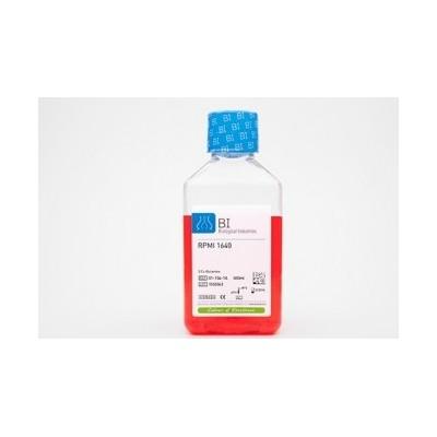 Podłoże RPMI 1640 bez L-glutaminy, z wodorowęglanem sodu i z czerwienią fenolową.
